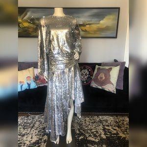 ASOS Silver Sequin Dress